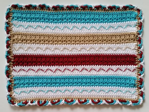 Fiesta Crochet Placemat Free Pattern Cashmere Dandelions